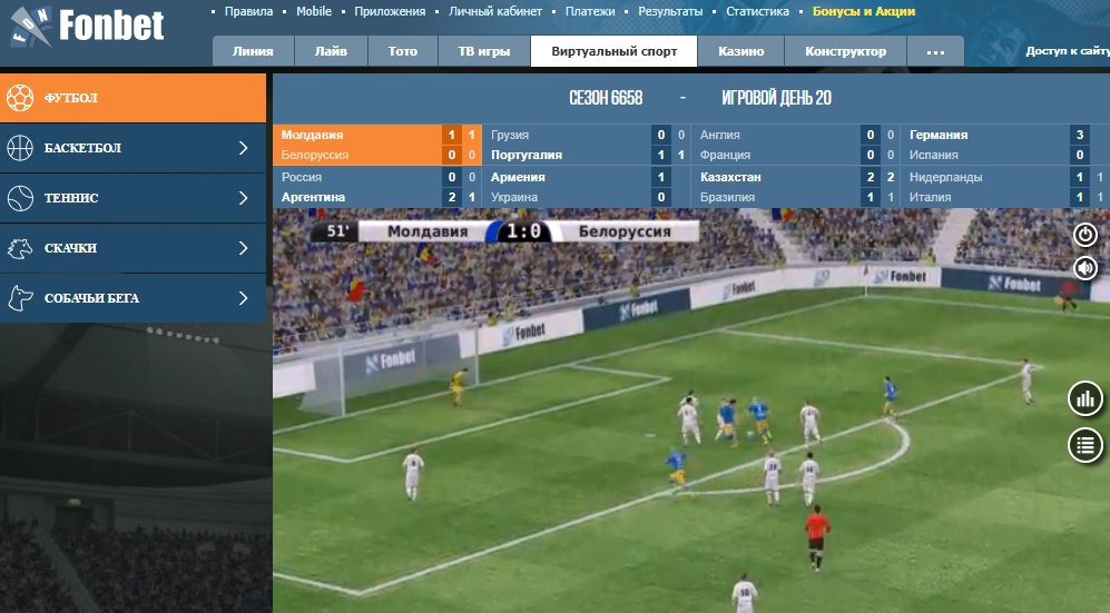 Ставки на пенальти в виртуальном футболе